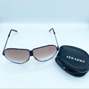 Ferarri Foldable Men's Aviator Sunglasses Brown